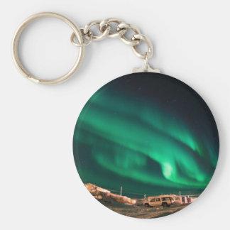 Aurora Borealis Basic Round Button Keychain