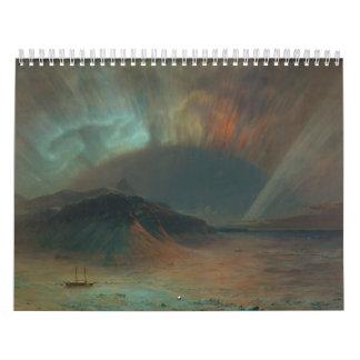 Aurora Borealis by Frederic Edwin Church 1865 Calendar