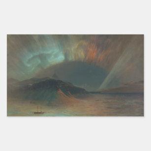 Aurora Borealis by Frederic Edwin Church 1865 Rectangular Sticker