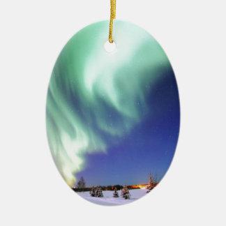 Aurora Borealis Ceramic Ornament