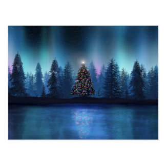 Aurora Borealis Christmas Postcard
