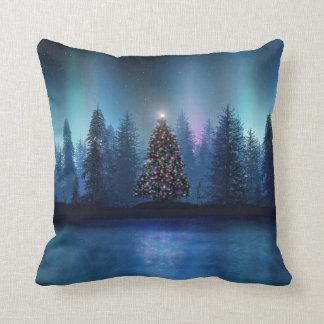 Aurora Borealis Christmas Throw Pillow