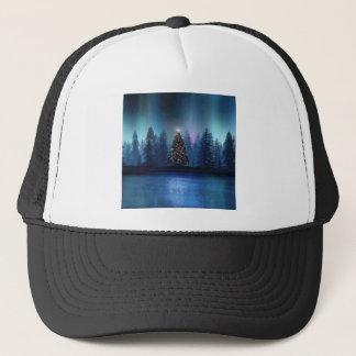 Aurora Borealis Christmas Trucker Hat