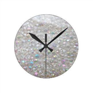 Aurora Borealis Crystals Image Wall Clock
