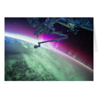 Aurora Borealis del espacio Tarjeta De Felicitación
