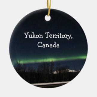 Aurora Borealis del Yukón; Recuerdo del territorio Ornamento De Reyes Magos