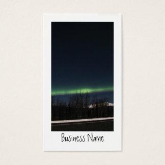 Aurora Borealis del Yukón Tarjetas De Visita