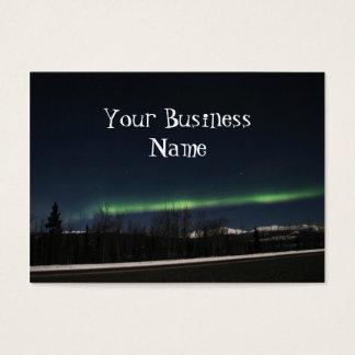 Aurora Borealis del Yukón Tarjetas De Visita Grandes