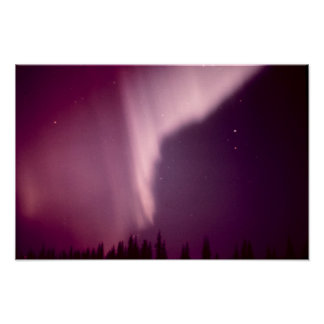 Aurora Borealis en Alaska Póster
