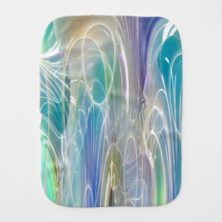 Aurora Borealis Fantasy Abstract Art Pastel Shades Baby Burp Cloth