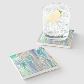 Aurora Borealis Fantasy Abstract Art Pastel Shades Stone Coaster