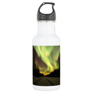Aurora Borealis from Eielson AFB Water Bottle