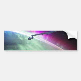 Aurora Borealis from space Bumper Sticker