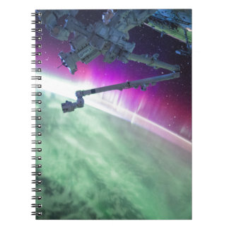 Aurora Borealis from space Notebook