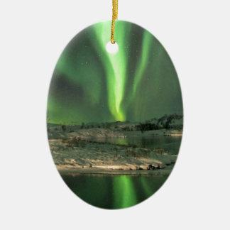 Aurora Borealis Iceland Ceramic Ornament