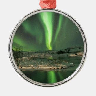 Aurora Borealis Iceland Metal Ornament