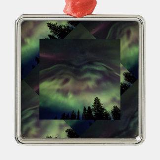 Aurora borealis in Finnish Lapland Metal Ornament