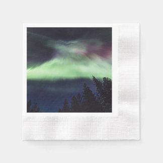 Aurora borealis in Finnish Lapland Paper Napkin