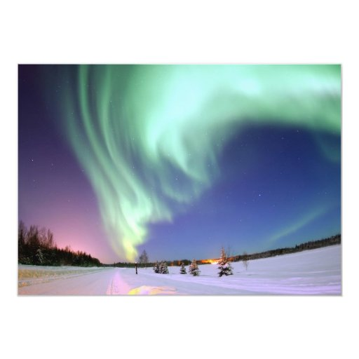 "Aurora Borealis Invitación 5"" X 7"""