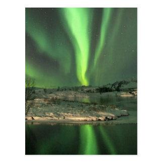 Aurora Borealis Islandia Tarjeta Postal