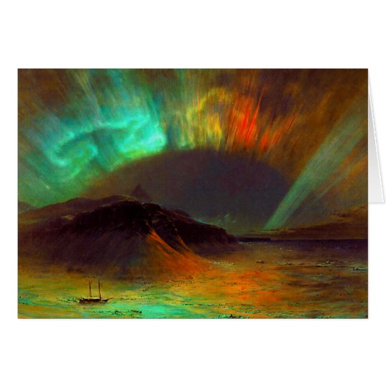 Aurora Borealis,  Northern Lights Christmas Card