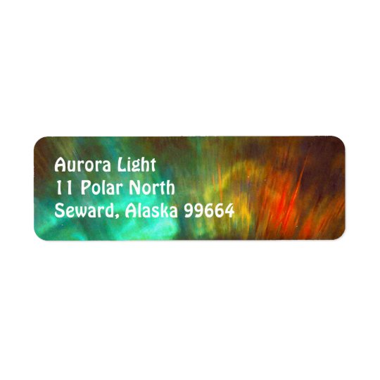 Aurora Borealis,  Northern Lights - Customizable Label
