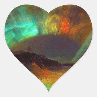 Aurora Borealis,  Northern Lights Heart Sticker