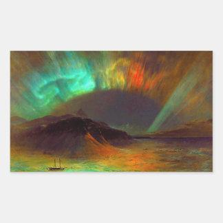 Aurora Borealis,  Northern Lights Rectangular Sticker