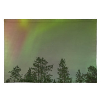 Aurora Borealis Northern Lights Skies Glow Sparkle Cloth Placemat