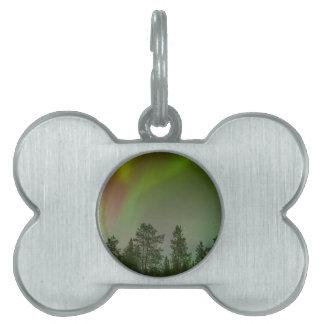 Aurora Borealis Northern Lights Skies Glow Sparkle Pet ID Tag