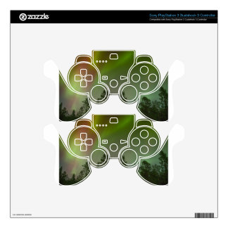 Aurora Borealis Northern Lights Skies Glow Sparkle PS3 Controller Skin