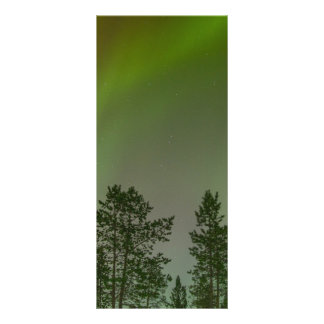 Aurora Borealis Northern Lights Skies Glow Sparkle Rack Card