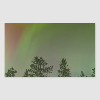 Aurora Borealis Northern Lights Skies Glow Sparkle Rectangular Sticker