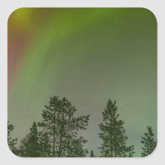 Aurora Borealis Northern Lights Skies Glow Sparkle Square Sticker