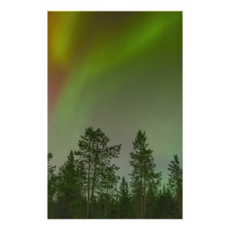 Aurora Borealis Northern Lights Skies Glow Sparkle Stationery