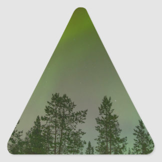 Aurora Borealis Northern Lights Skies Glow Sparkle Triangle Sticker