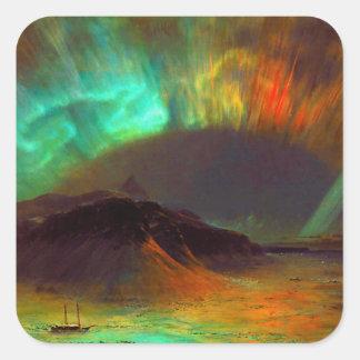 Aurora Borealis,  Northern Lights Square Sticker