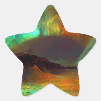 Aurora Borealis,  Northern Lights Star Sticker