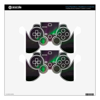 Aurora Borealis Northern Lights Trees Nature Lands Skin For PS3 Controller