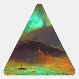 Aurora Borealis,  Northern Lights Triangle Sticker