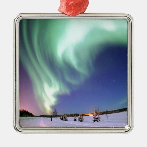 Aurora Borealis, o aurora boreal, Alaska Ornamentos Para Reyes Magos