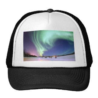 Aurora Borealis, o aurora boreal, Alaska Gorra