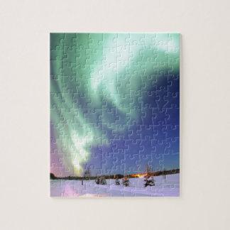 Aurora Borealis, o aurora boreal, Alaska Rompecabezas Con Fotos