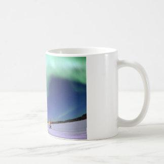 Aurora Borealis, o aurora boreal, Alaska Taza De Café