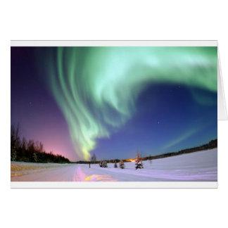 Aurora Borealis, or Northern Lights, Alaska Greeting Card