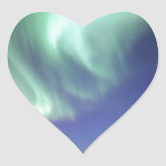 Aurora Borealis, or Northern Lights, Alaska Heart Sticker