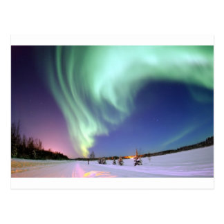 Aurora Borealis, or Northern Lights, Alaska Post Card