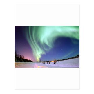 Aurora Borealis, or Northern Lights, Alaska Postcard