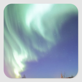 Aurora Borealis, or Northern Lights, Alaska Square Sticker