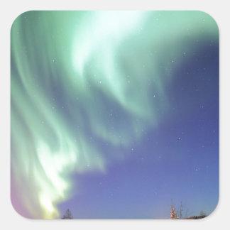 Aurora Borealis, or Northern Lights, Alaska Square Sticker